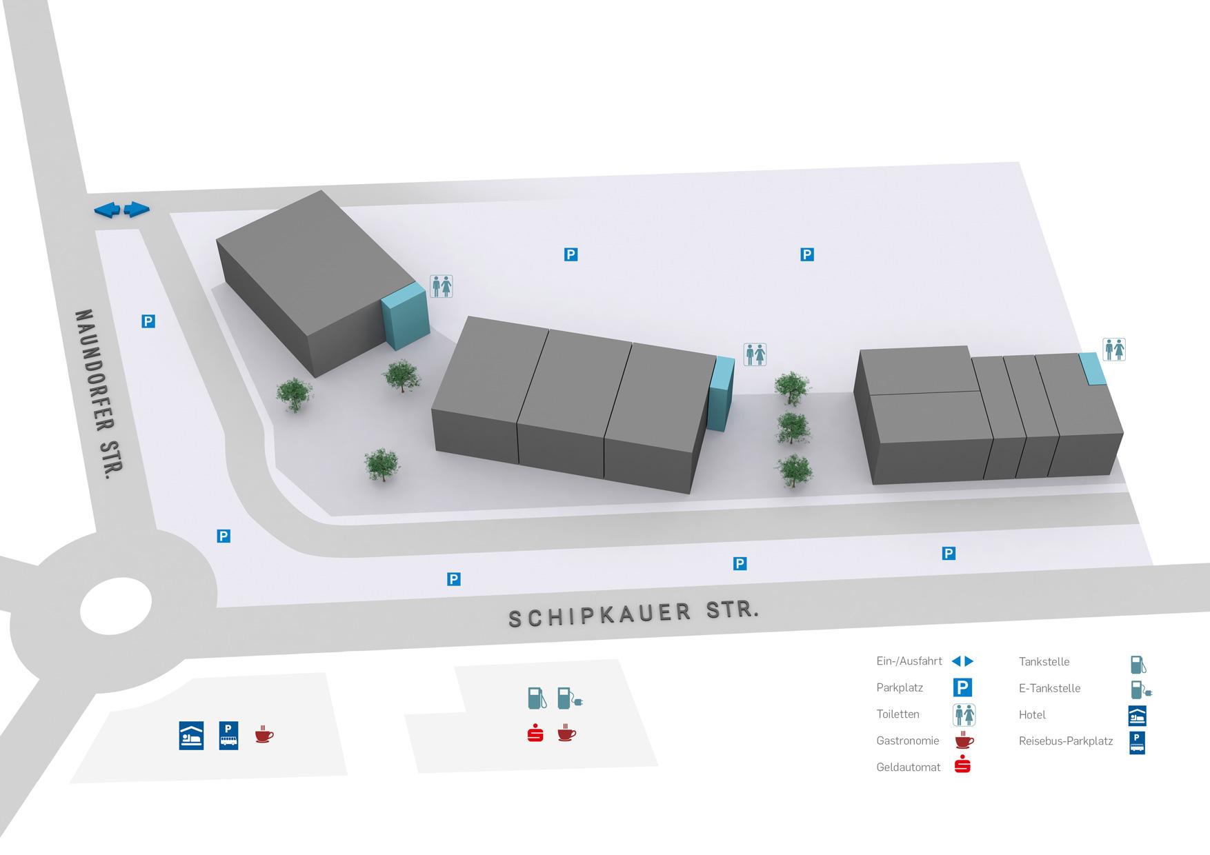 Schwarzheide-Mitte Centerplan